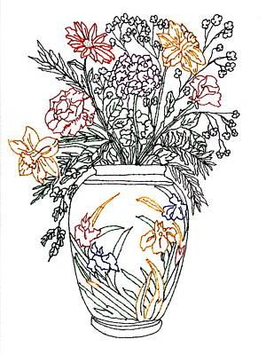 Summer Flowers Original by Connie Valasco