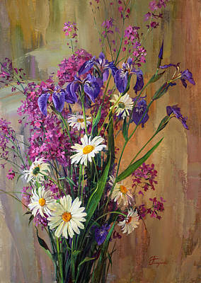 Painting - Summer Flowers by Galina Gladkaya