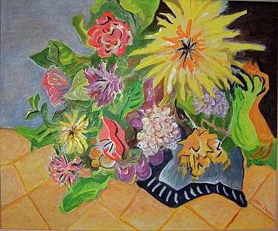 Summer Flowers Original by Joan Landry