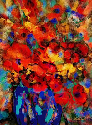 Flower Still Life Mixed Media - Summer Flowers by Natalie Holland