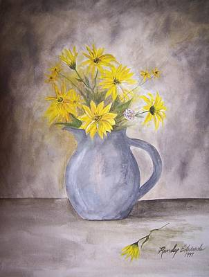Amateur Painting - Summer Flowers by Randy Edwards