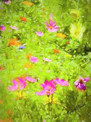 Digital Art - Summer Flowers by Rusty R Smith