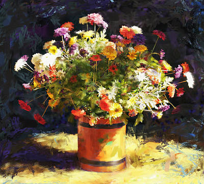 Summer Flowers Art Print by Sandra Selle Rodriguez