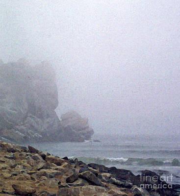 Painting - Summer Fog At The Beach by Methune Hively