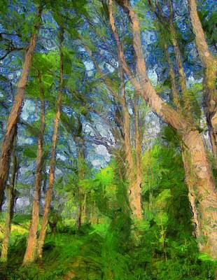 Summer Forest Painting Art Print