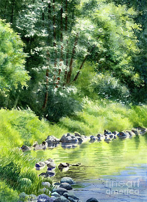 Summer Forest Reflections Original by Sharon Freeman