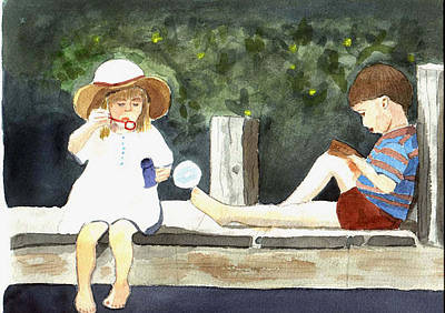 Painting - Summer Friends by Jane Croteau