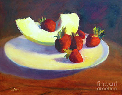 Painting - Summer Fruit by Carolyn Jarvis