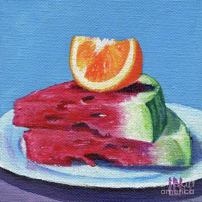 Painting - Summer Fruit by Lisa Norris