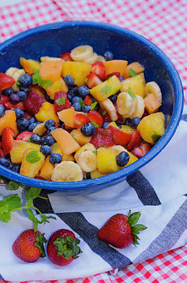 Photograph - Summer Fruit Salad Still Life by Sherri Meyer