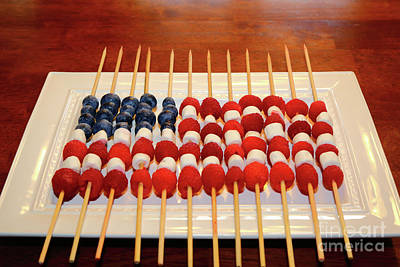Photograph - Summer Fruits Stars And Stripes  by James Brunker
