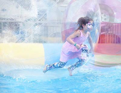 Water Play Photograph - Summer Fun by Theresa Tahara