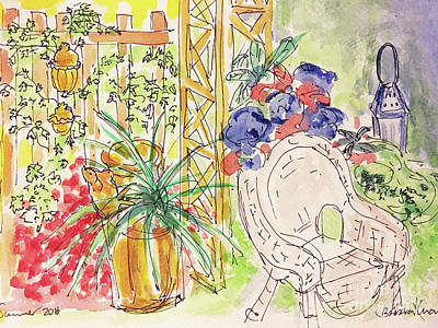 Drawing - Summer Garden by Barbara Anna Knauf