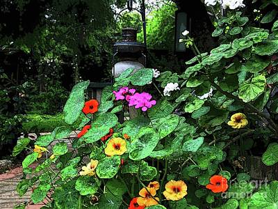 Painting - Summer Garden Blooms by Hazel Holland