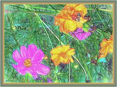Summer Garden Art Print by Debra Lynch