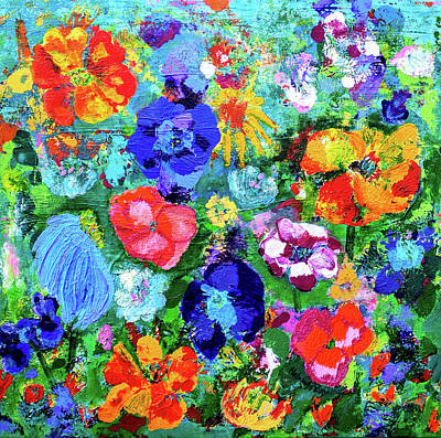 Painting - Summer Garden  by Haleh Mahbod