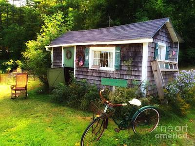 Photograph - Summer Garden Shed by Lisa Gilliam