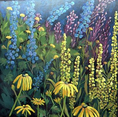 Painting - Summer Garden by Susan  Spohn