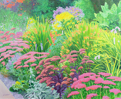 Multi-coloured Painting - Summer Garden by William Ireland