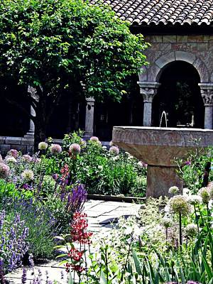 Photograph - Summer Gardens At The Cloisters 1  by Sarah Loft