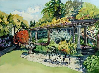 Wall Art - Painting - Summer Gardens by Sonia Mocnik