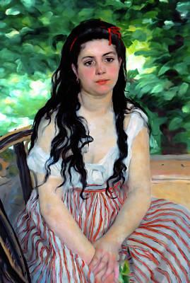 Female Mixed Media - Summer Girl  by Georgiana Romanovna