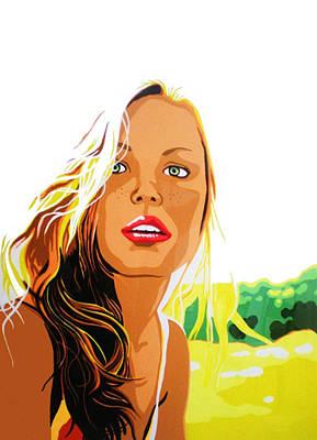 Summer Girl Art Print by Heli Luukkanen