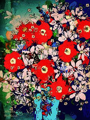 Interior Still Life Mixed Media - Summer Glory by Natalie Holland