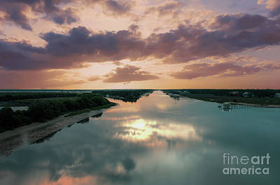 Photograph - Summer Goat Island Sunrise  by Dale Powell