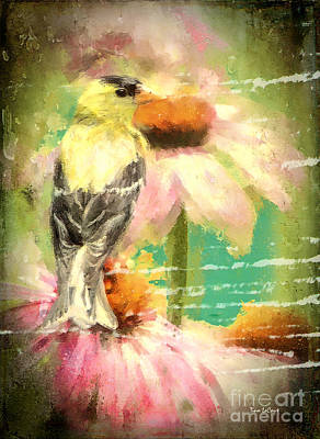 Digital Art - Summer Goldfinch by Tina LeCour