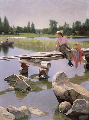 Summer Picnic Painting - Summer by Gunnar Berndtson