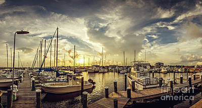 Photograph - Summer Harbor Sunset by Joan McCool
