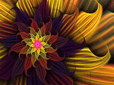 Digital Art - Summer Harvest Flower by Barbara A Lane