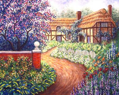 Impressionistic Landscape Painting - Summer Haven by Linda Mears