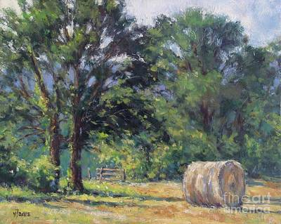 Summer Hay At The Ranch Art Print by Vickie Fears