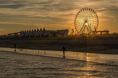 Photograph - Summer Haze And The Ferris Wheel by Mark Robert Rogers