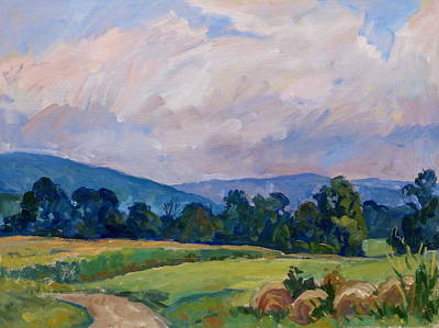 Berkshires Painting - Summer Haze Berkshires by Thor Wickstrom