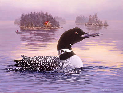 Waterfowl Painting - Summer Haze by Richard De Wolfe