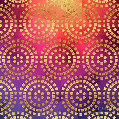 Abstract Digital Painting - Summer Heat Colourful Geometric Abstract Art by Tina Lavoie