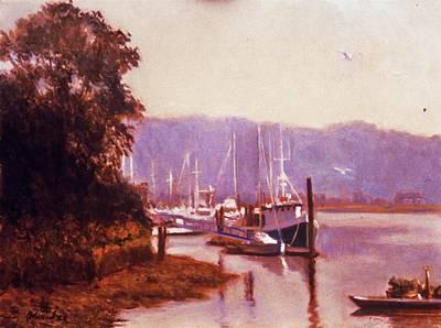 Summer Heat  Long Island Port Art Print by David Olander