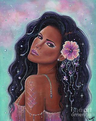 Painting - Summer Hibiscus Mermaid by Renee Lavoie