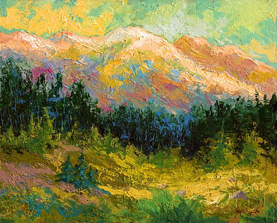 River Painting - Summer High Country by Marion Rose