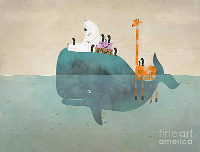Whale Digital Art - Summer Holiday by Bri B