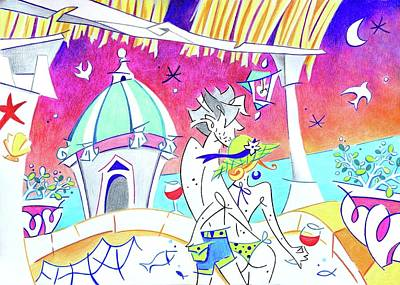 Summer Holidays Love Italy - Relax Enjoy Life Art Print by Arte Venezia