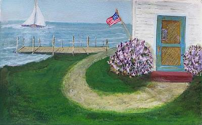 Painting - Summer Home In Maine by Robert Harrington