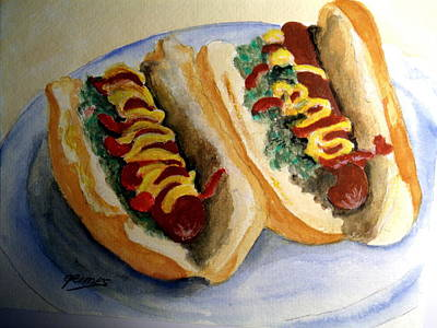 Painting - Summer Hot Dogs by Carol Grimes