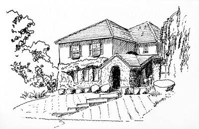 Drawing - Summer House by Masha Batkova