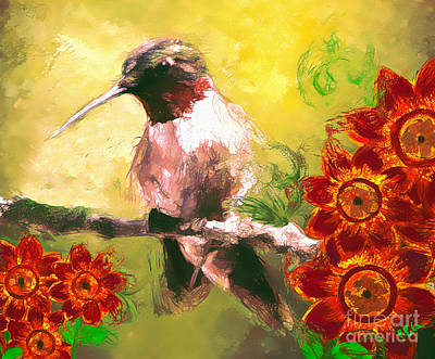 Digital Art - Summer Hummer by Tina LeCour