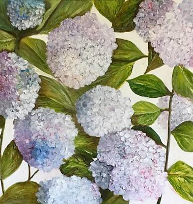 Painting - Summer Hydrangeas by Chuck Gebhardt
