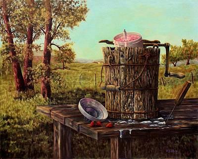 Painting - Summer Ice Cream by B J Blair